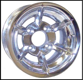 Polished Golf Cart Wheels Rims EZGO Club Car 10x7