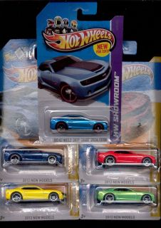 Hot Wheels New Models Showroom 9 247 2012 2013 Camaro ZL1 Lot 5 Colors