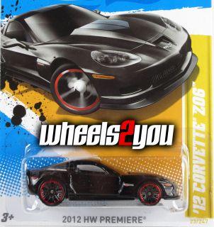 2012 Hot Wheels ** 12 CORVETTE Z06 ** Case M ** Black NEW