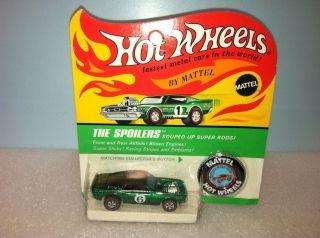 Hot Wheels Redline BP Mustang Boss Hoss Green Dark Int Dark Top Unpunc
