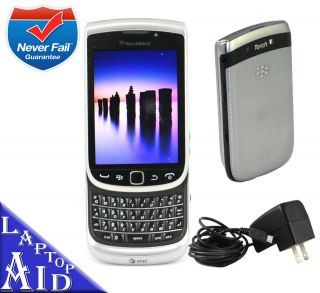 Unlocked Rim Blackberry Torch 9810 At t Silver Smartphone 8GB GSM No