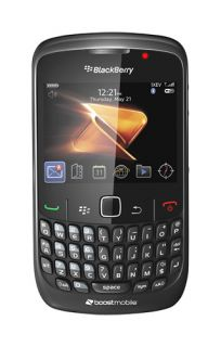 Blackberry Curve 8530 Black Boost Mobile Smart Phone Good