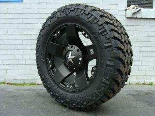 20 XD Rockstar Black 295 65R20 Nitto Trail MT 35 5 Mud Tires Dodge