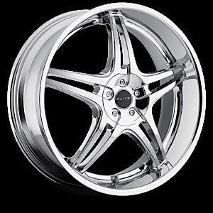Wheel Set 22x8 5 Elite Chrome Rims BMW Mercedes Chevy Lexus