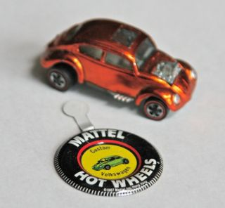 Hot Wheels Redline Custom Volkswagen with Badge 68 White Interior