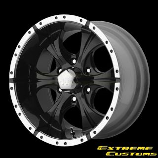 Maxx Gloss Black and Machined 5 6 Lugs Wheels Rims Free Lugs
