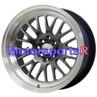 16 16x8 XXR 531 Chromium Black Wheels Rims Deep Dish Lip Datsun 240z