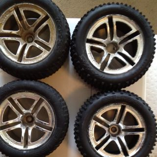 Nitro Rustler Sport Stampede Front And Rear Tires And Rims XL 5 VXL