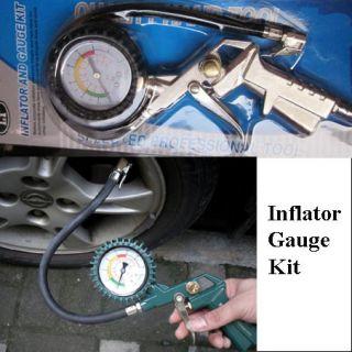 220 PSI Car Professional Tire Pressure Gauge Manual Air Inflator