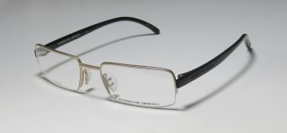 8147 A 54 19 140 Gold Black Half Rim Eyeglass Glasses Frames