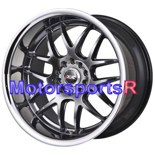 18 XXR 526 Chromium Black Rims Staggered Wheels Stance 06 13 Lexus