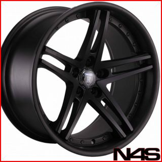 NISSAN 350Z ROHANA RC5 MATTE BLACK DEEP CONCAVE STAGGERED WHEELS RIMS