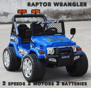 Engine Remote 2 Battery Ride On Power Wheels Raptor Jeep Car Toy