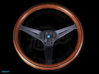 Nardi Sport Rally Deep Corn Wood Steering Wheel Black Spoke Horn