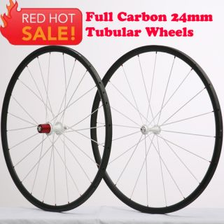 Tubular bicycle wheelset Carbon Wheels 3k carbon road bike wheelset