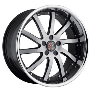 20 MRR RW4 Black Chrome Wheels Rims Fit Nissan Altima Maxima Murano