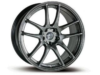 19 Avid 1 AV 10 Staggered Wheels 5x114 Rims Chromium Black 350Z G35
