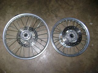 Wheels Front Rear Rims Hubs Spokes 17 14 CRF150R Honda 08