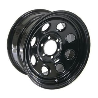 Cragar Soft 8 Black Steel Wheels 15x8 6x4 5 Set of 5