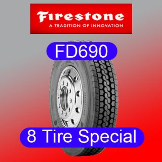 Tires Firestone FD690 295 75R22 5 Semi Truck Tires