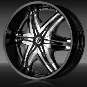 24 Diablo Elite Black Wheels Rim Tires Range Rover X5