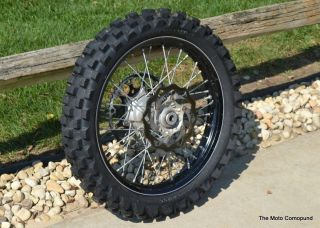 2007 KTM SXF450 SX450 Black Back Rear Wheel Hub Tire Rim Spokes