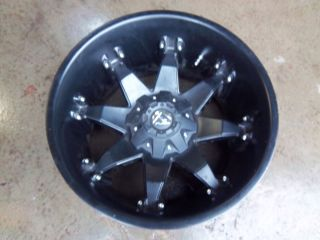 Ford F250 F350 Fuel Octane matte Black Wheel Rim Deep Lip chevy 8x6 5