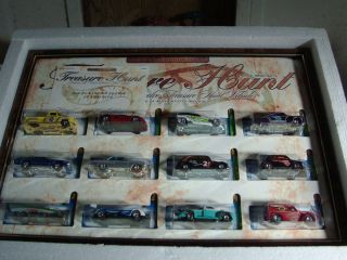 Hot Wheels 2002 Treasure Hunt Complete Set in Display Case