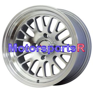 531 Machine Silver Wheels Rims Deep Dish Stance 4x4 5 4x114 3 Honda