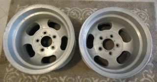 ANSEN ALUMINUM SLOT WHEELS GASSER CHEVY RAT ROD DUNE BUGGY BUGGIE