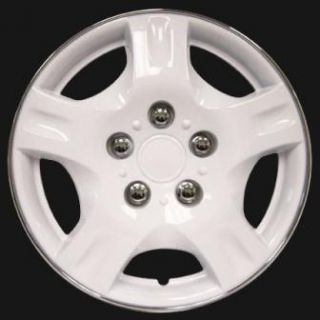 Wheel Covers Hub Caps in 15 White Chrome Lip Center Rim Covers
