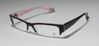 Twiggy Black Pink Sterling Silver Semi Rim Hip Eyeglass Frames