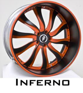 22 Forgiato Wheels Rims TIRES265 35 22 3 Piece Custom