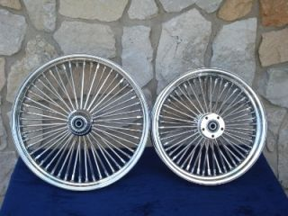 21x2 15 18x5 5 DNA Mammoth 52 Spoke Wheel Set for Harley Softail