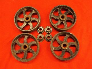 Cast Iron Cart Wheels Hit Miss Small Engine Maytag Briggs Clinton