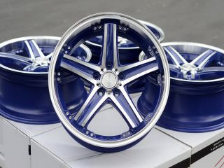 18 Blue Wheels Rims 5x114 3 Dodge Caravan Ford Crown Victoria Escape