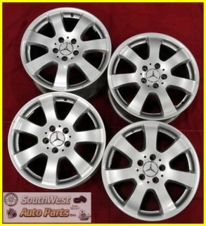 MERCEDES ML350 ML320 R350 17 SILVER WHEELS USED OEM FACTORY RIMS 65366