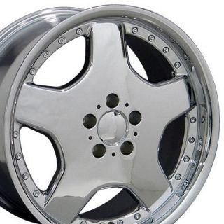 18 8 9 Chrome AMG Wheels Set of 4 Rims Fit Mercedes C E s Class SLK