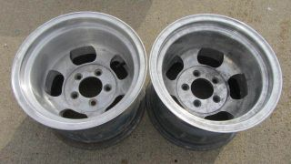 Deep Dish Ansen Style Aluminum Slot Wheels Chevy Gasser Slots