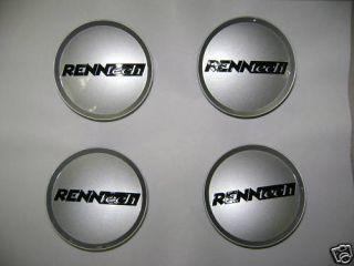Renntech Center Caps Black and Silver