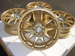 15 Gold Effect Wheels Rims Acura CL TC Legend Yaris Corolla Aerio