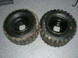 115 Yamaha Rear wheels rims BKT XDrive Tires Banshee YFZ450 Raptor 9