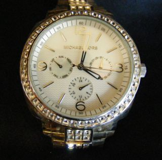 Michael Kors Swavorski Crystal Bling Womens Fashion Watch Wristwatch