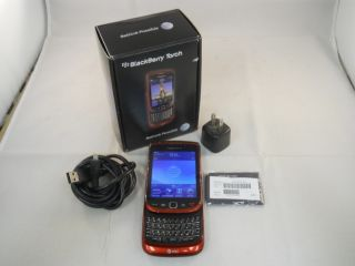 RED★ RIM BLACKBERRY TORCH 9800 AT&T (UNLOCKED) GSM Smartphone