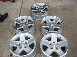 17 Jeep Wrangler Machined Wheels Rims Rubicon Sahara Sport