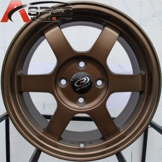 15 Rota Grid Rim 4x100 Wheels Civic Fit Mirage Lancer