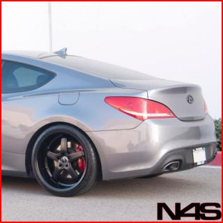 GENESIS COUPE AVANT GARDE M350 MATTE BLACK STAGGERED LIP RIMS WHEELS