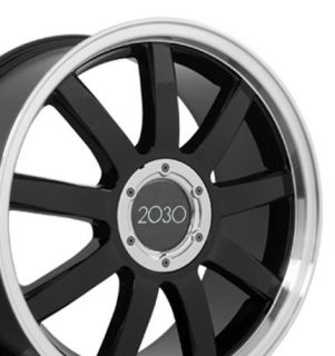 18 Black RS4 Style Deep Dish Wheels Set of 4 Rims Fit Audi A4 A6 A8