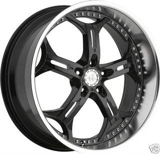 20 Black Helo Wheels Rims Nissan 350Z 370Z Mustang Camry TL RDX