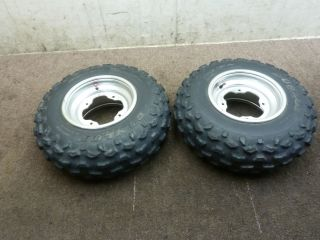 2000 00 Yamaha Banshee 350 Front Wheel Set Rims Tires Wheels